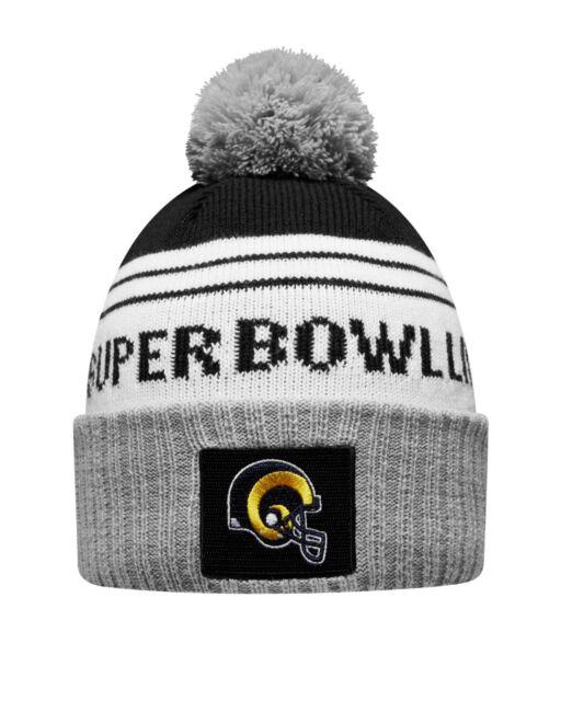 Los Angeles Rams New Era Heather Gray Super Bowl LIII Bound Striped Knit Hat a4e6aa0b3