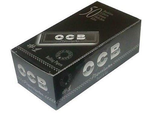 OCB Premium Black Small Size Standart Size Rolling Papers Full Box 50