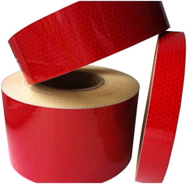 BUY 2 GET 1 FREE Hi Intensity ReflectiveTape 1M X 50MM Red Self Adhesive Hi Viz