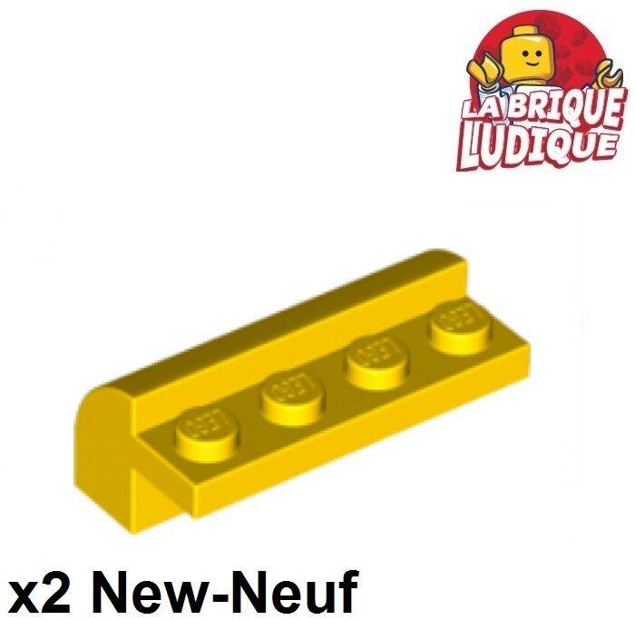 2 x LEGO 6081 Brique Courbée gris dark grey Brick 2x4 Curved Top NEUF NEW
