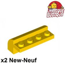 Lego - 2x Brique Brick Modified 2x4x1 1/3 curved jaune/yellow 6081 NEUF