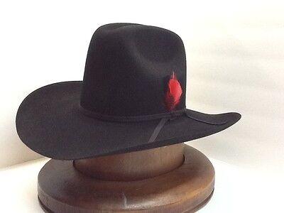 RESISTOL 6X BEAVER HAT BLACK QUARTER HORSE New W//tags+FREE hat brush+NO TAX SELL