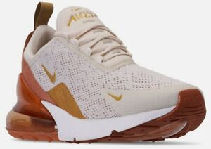 best sneakers 0cdcf 36f35 Details about WOMEN'S NIKE AIR MAX 270 CASUAL SHOES Light Cream/Metallic  Gold/Terra SFN17-243
