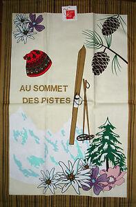 torchon motif Edelweiss, sapin, skis, pomme de pin, déco montagne chalet - France - État : Neuf: Objet neuf et intact, n'ayant jamais servi, non ouvert, vendu dans son emballage d'origine (lorsqu'il y en a un). L'emballage doit tre le mme que celui de l'objet vendu en magasin, sauf si l'objet a été emballé par le fabricant d - France