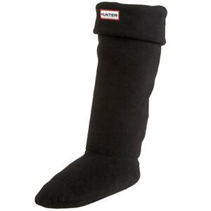 9a3e1973c Image is loading Hunter-Kids-Fleece-Cuff-Black-Welly-Socks-size-