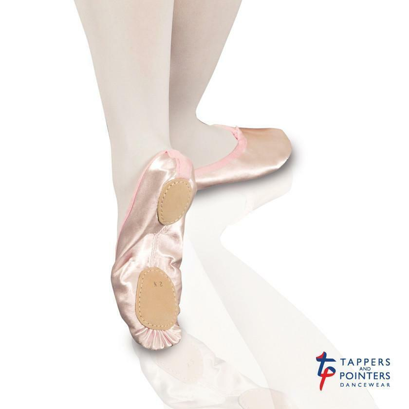 HALF PRICE - Tappers and Pointers Split Sole Pink Satin Ballet Shoe