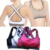 NEW Seamless Yoga Sports Bra Crop Top Vest Comfort Stretch Bras Shapewear Padded