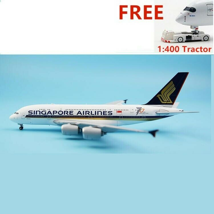 1 400 BBOX Singapore Airlines A380 9V-SKU  70Year  Aircraft Model+ Free Tractor