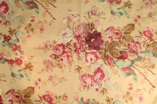 """Lovely Rose Cumming Glazed English Chintz Fabric"""