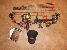 New 2017 PSE Stinger X  RH 40-70# bow pkg skullworks 2 w/RED acc & sk arrows