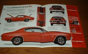 Details about ★★1970 CHEVY CHEVELLE SS 454 SPEC SHEET BROCHURE POSTER PRINT  PHOTO INFO 70 LS6★