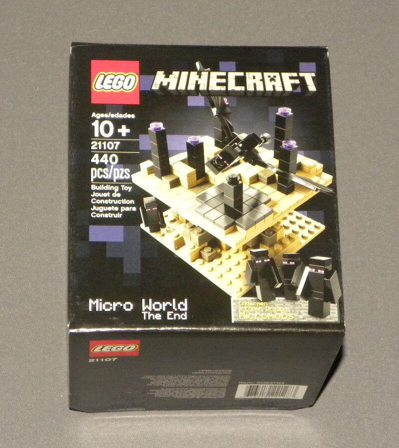 LEGO 21107 Minecraft The End Dimension Micro World Set Ender Dragon, 4 Endermen