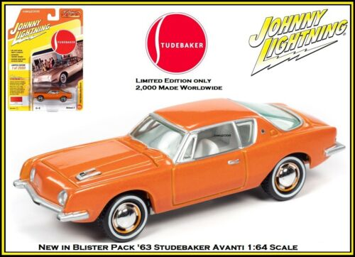 Johnny Lightning New /'63 Studebaker Avanti Limited Edition 1//64th Diecast Car