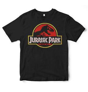 JURASSIC-PARK-WORLD-T-Shirt-Logo-Retro-Vintage-Anni-039-90-Film-Geek-TREX-DINOSAURO