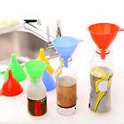 3 x Plastic Funnel Kitchen Home Tool Lab Car Gadget Liquid Water Oil Fill Random