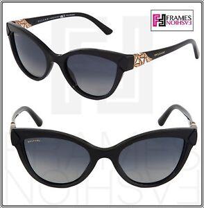 4ebadf2ad0 BVLGARI 8156B DIVA DIVINA Cat EyeBlack Gold Polarized Sunglasses 501 ...