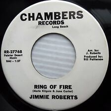 JIMMIE ROBERTS 45 last date Ring of fire 60s COUNTRY guitar on CHAMBERS jr06