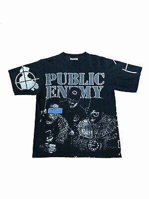 Public Enemy Retro Vintage Blanc Sweat a Capucha Unisex X Large