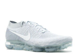 separation shoes 30f4e 188a0 Image is loading Nike-Air-Vapormax-Flyknit-039-Pure-Platinum-039-