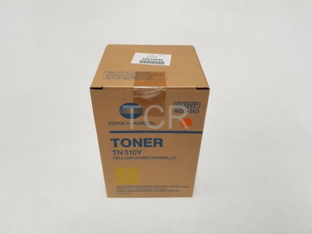 Konica Minolta TN310Y Toner Cartridge Yellow 4053-503 Bizhub C350 C351