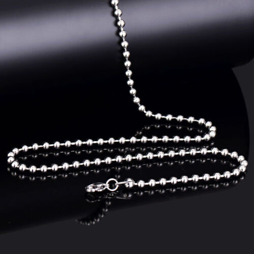 """2//2.5//3mm Wholesale Lot Silver Stainless Steel Silver Ball Chain Necklace 16-30/"""""""