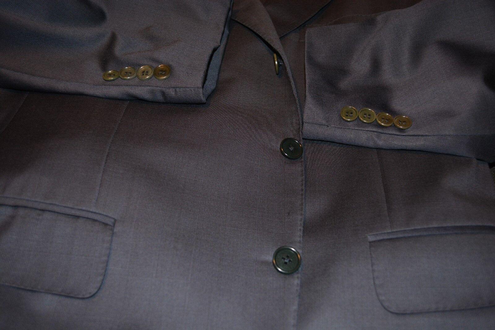 Ermenegildo Zegna Prince of Wales Plaid Worsted Suit 40S 32W
