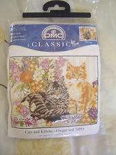 """DMC cross stitch kit  Cats And kittens   Ginger And Tabby  10"""" x 8"""""""
