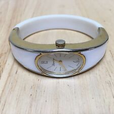 Vintage Lucerne Swiss Lady Gold Tone Cuff Bangle Hand-Winding Watch Hours~Runs