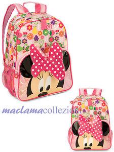 vari colori 20f5b 2862c Dettagli su ZAINO scuola MINNI MINNIE nuovo con etichetta Disney Store  maclama