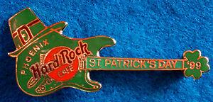Phoenix-S-PATRICK-039-S-Giorno-Shamrock-Fender-Strat-Chitarra-1999-Hard-Rock-Cafe-A