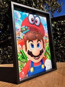 Super Mario Odyssey Poster Print 8 5x11 5 Inside 9x12 5 Frame Ebay