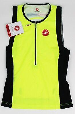 Castelli Men/'s Free Sleeveless Tri Top Large Yellow Fluo//Black L