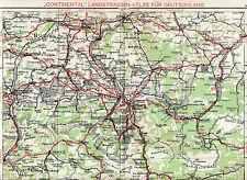 Traunstein Rosenheim Ampfing 1929 orig Autoatlas-Karte Reichenhall Salzburg Ried