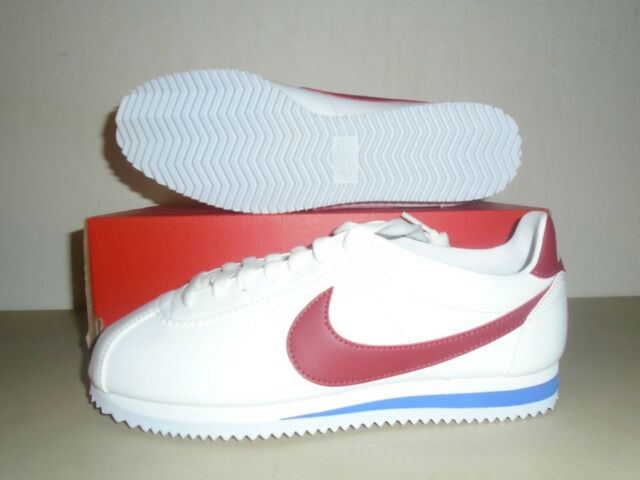 Investigación barril Canberra  NIKE WOMENS Classic Cortez Leather - White, Red & Blue - 807471-103 for  sale online | eBay