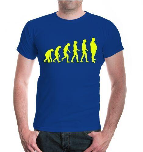 Herren Unisex Kurzarm T-Shirt The Evolution of Beer Belly Bier Party Funshirt