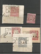 Preussen V. / GRONAU IN WESTPHALEN je nachv. Ra3 1869 a. NDP 16, 1870 a. Briefst