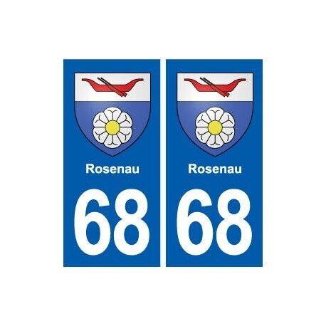 68 Rosenau blason autocollant plaque stickers ville droits
