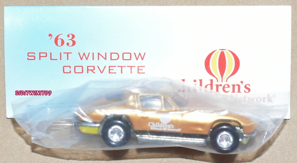 Hot Wheels 8TH nacionales anual'63 ventana dividida real jinetes W + Corvette oro