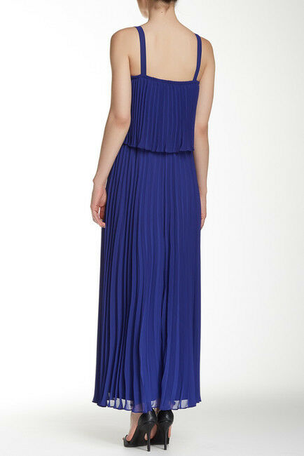 NWT  Eliza J Strappy Pleated Popover Maxi Dress     SZ 10   A095 27b361