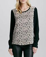 Dvf Diane Von Furstenberg Apricot Louisa Heart Silk Georgette Blouse Size 6