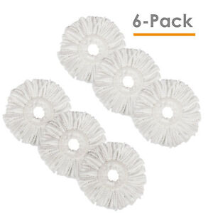 Lot-of-6-Replacement-Microfiber-Mop-Head-Refill-For-Magic-Mop-360-Spin-Mophead
