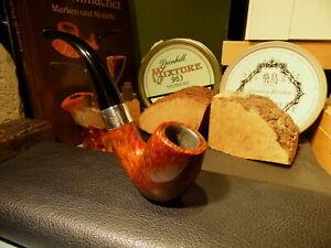 Peterson-Sterling-Silver-69-Estate-Pfeife-smoking-pipe-pipa-Rauchfertig