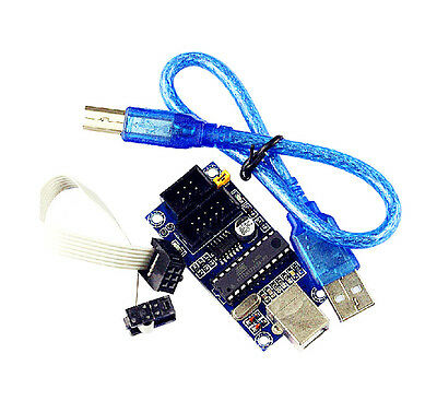 1Pcs USBTiny USBtinyISP AVR ISP programmer + 2pcs cable for Arduino bootloader