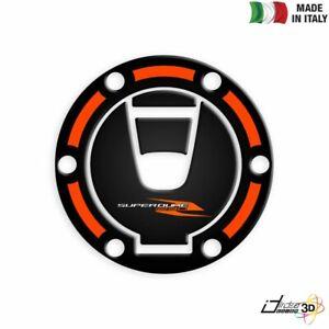 ADESIVO-TAPPO-BENZINA-3D-NERO-ARANCIO-FOR-KTM-1290-Super-Duke-R-2017-2019