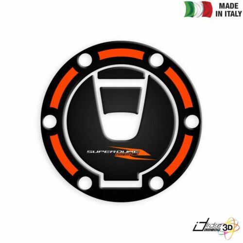 Sticker Petrol Cap 3D Black Orange for KTM 1290 Super Duke R 2017-2019
