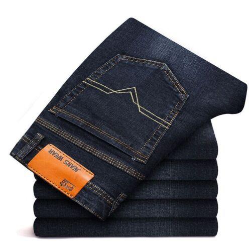 Men/'s Straight Jeans Business Classic Leisure Basic Styles Denim Pants 29-38 New