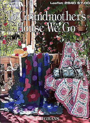 To Grandmother's House We Go ~ 11 Classic Afghan Designs crochet patterns Rare