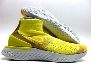 cdaf19752275c NIKE RISE REACT FLYKNIT LIMITED SONIC YELLOW STUCCO SIZE MEN S 11 ...