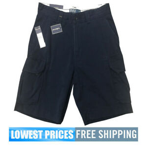 Polo-Ralph-Lauren-Men-039-s-NWT-BSR-Navy-Cargo-Shorts-Free-Shipping-MSRP-79