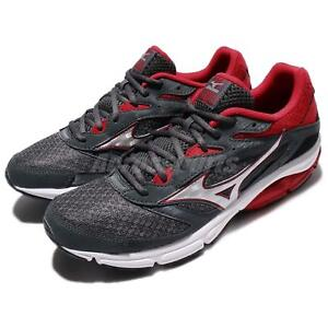 info for 70aac 1a49a Image is loading Mizuno-Wave-Surge-Grey-Red-Men-Running-Shoes-